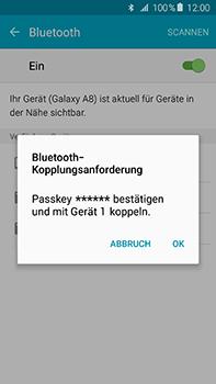 Samsung Galaxy A8 - Bluetooth - Verbinden von Geräten - Schritt 7