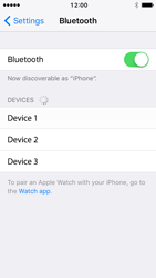 Apple iPhone 5s iOS 10 - Bluetooth - Connecting devices - Step 7