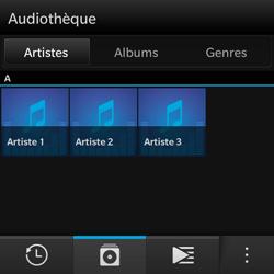 BlackBerry Q10 - Photos, vidéos, musique - Ecouter de la musique - Étape 4