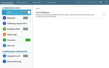 Samsung T535 Galaxy Tab 4 10.1 - Internet e roaming dati - Come verificare se la connessione dati è abilitata - Fase 4