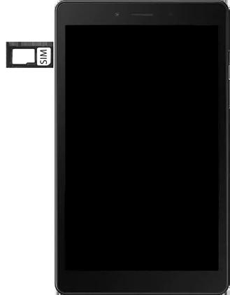 Samsung galaxy-tab-a-8-0-lte-2019-sm-t295 - Instellingen aanpassen - SIM-Kaart plaatsen - Stap 4