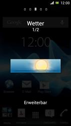 Sony Xperia J - Startanleitung - Installieren von Widgets und Apps auf der Startseite - Schritt 5