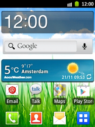 Samsung Galaxy Pocket - Getting started - Installing widgets and applications on your start screen - Step 5