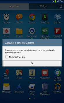 Samsung Galaxy Tab 3 8-0 LTE - Operazioni iniziali - Installazione di widget e applicazioni nella schermata iniziale - Fase 5