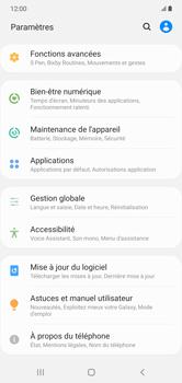 Samsung Galaxy Note 10+ - Aller plus loin - Restaurer les paramètres d'usines - Étape 4