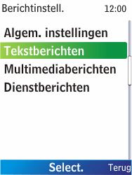 Nokia X2-00 - SMS - Handmatig instellen - Stap 6