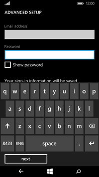 Microsoft Lumia 640 XL - Email - Manual configuration POP3 with SMTP verification - Step 9