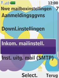 Nokia 7310 supernova - E-mail - Handmatig instellen - Stap 16