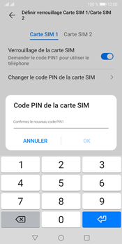 Huawei Y5P - Sécuriser votre mobile - Personnaliser le code PIN de votre carte SIM - Étape 13