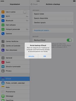 Apple iPad mini iOS 7 - Applicazioni - Configurazione del servizio Apple iCloud - Fase 11