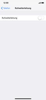 Apple iPhone XS - Anrufe - Rufumleitungen setzen und löschen - 5 / 9