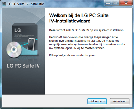 LG E975 Optimus G - Software - Download en installeer PC synchronisatie software - Stap 3