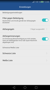 Huawei Mate S - Anrufe - Anrufe blockieren - Schritt 6