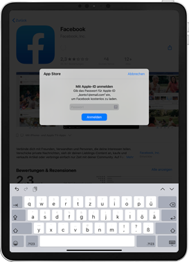 Apple iPad Pro 9.7 - iPadOS 13 - Apps - Einrichten des App Stores - Schritt 25
