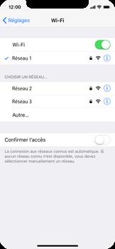 Apple iPhone X - Wi-Fi - Accéder au réseau Wi-Fi - Étape 7