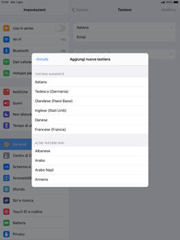 Apple ipad-10-2-7th-gen - Operazioni iniziali - Come aggiungere una lingua alla tastiera - Fase 7