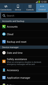 Samsung Galaxy Note III LTE - Mobile phone - Resetting to factory settings - Step 5