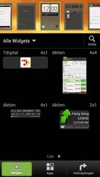 HTC One S - Startanleitung - Installieren von Widgets und Apps auf der Startseite - Schritt 3