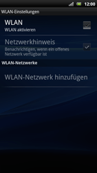 Sony Ericsson Xperia Arc S - WLAN - Manuelle Konfiguration - Schritt 6