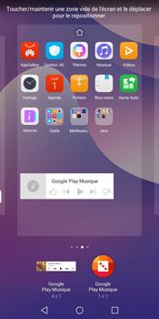 Huawei Y7 (2018) - Prise en main - Installation de widgets et d