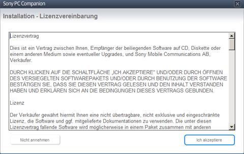 Sony Xperia J - Software - Installieren von Software zur PC-Synchronisierung - Schritt 5