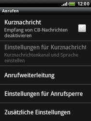 HTC A3333 Wildfire - Anrufe - Rufumleitungen setzen und löschen - Schritt 5