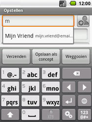 LG P350 Optimus Me - e-mail - hoe te versturen - stap 5