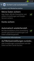 Samsung Galaxy S III - Gerät - Zurücksetzen auf die Werkseinstellungen - Schritt 5