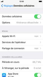 Apple iPhone SE - iOS 11 - Internet et roaming de données - Comment vérifier que la connexion des données est activée - Étape 5