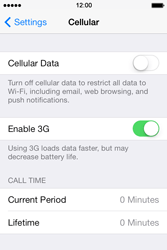 Apple iPhone 4 S iOS 7 - Internet - Disable mobile data - Step 5