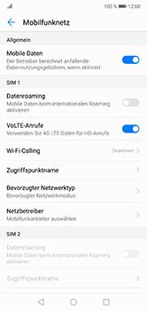 Huawei P20 Lite - Internet und Datenroaming - Prüfen, ob Datenkonnektivität aktiviert ist - Schritt 6