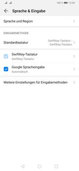 Huawei P30 - Startanleitung - So fügen Sie eine Tastatursprache hinzu - Schritt 5