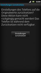 Sony Xperia U - Fehlerbehebung - Handy zurücksetzen - 9 / 10