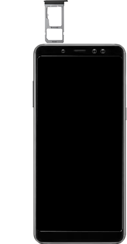 Samsung Galaxy A8 - Premiers pas - Insérer la carte SIM - Étape 9
