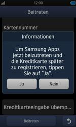 Samsung Wave - Apps - Konto anlegen und einrichten - 15 / 18