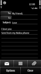 Nokia 500 - Email - Sending an email message - Step 10
