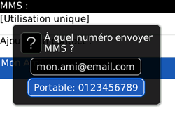 BlackBerry 8520 - Contact, Appels, SMS/MMS - Envoyer un MMS - Étape 7