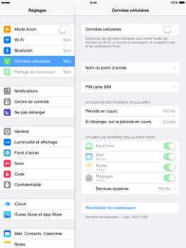 Apple iPad Air iOS 8 - Internet et roaming de données - Comment vérifier que la connexion des données est activée - Étape 4