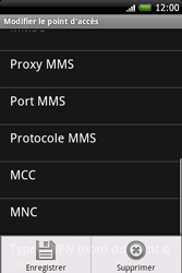 HTC A6262 Hero - Internet - Configuration manuelle - Étape 11