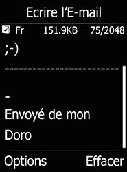 Doro 6520 - E-mails - Envoyer un e-mail - Étape 16