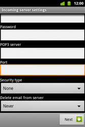 Alcatel OT-983 - E-mail - Manual configuration - Step 14