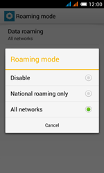 Alcatel One Touch Pop C3 - Internet and data roaming - Disabling data roaming - Step 9
