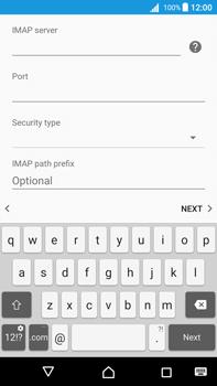 Sony Xperia Z5 Premium (E6853) - Android Nougat - E-mail - Manual configuration IMAP without SMTP verification - Step 13