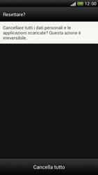 HTC One S - Dispositivo - Ripristino delle impostazioni originali - Fase 9