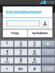LG E430 Optimus L3 II - Voicemail - Handmatig instellen - Stap 8