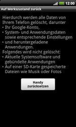 HTC A9191 Desire HD - Fehlerbehebung - Handy zurücksetzen - Schritt 8