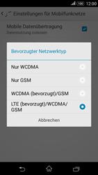Sony Xperia E4G - Netzwerk - Netzwerkeinstellungen ändern - 7 / 8