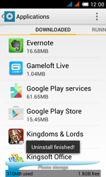 Alcatel One Touch Pop C3 - Applications - how to uninstall an app - Step 8