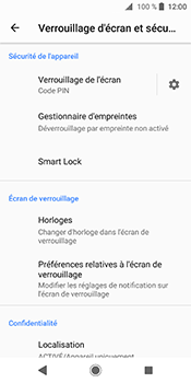 Sony Xperia XZ2 - Sécuriser votre mobile - Activer le code de verrouillage - Étape 12