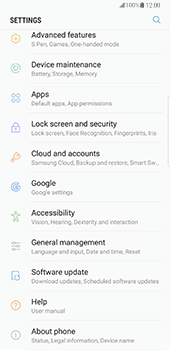 Samsung Galaxy Note 8 - Device - Factory reset - Step 5